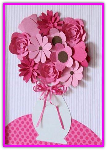Ваза с цветами. Подарки для мамы и бабушки к 8 марта